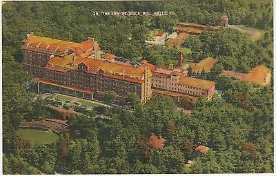 The Inn at Buck Hill Falls Pennsylvania PA Vintage Postcard Pocono Mtns Linen