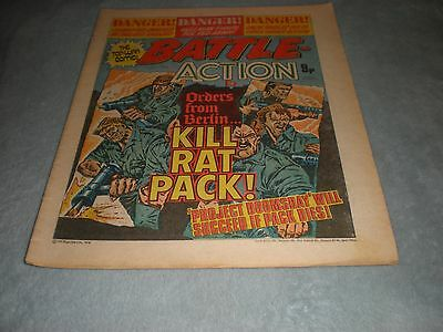 Vintage Battle Action Comic Book - 1 July 1978 Birthday Idea