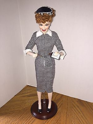 """Franklin Mint I Love Lucy """"Lucy Does A TV Commercial"""" Vitameatavegamin Free Ship"""