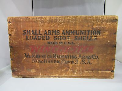 Vintage Advertising Winchester Arms Co. Loaded Shot Shells Wooden Box, 419-L