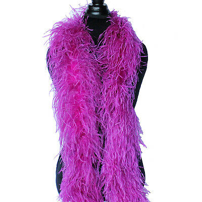 Berry 4ply Ostrich Feather Boa Scarf Prom Halloween Costumes Dance Decor