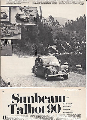 10 LOT Vintage ROOTES Group Sunbeam-Hillman, Multi-Page Magazine Articles, UK