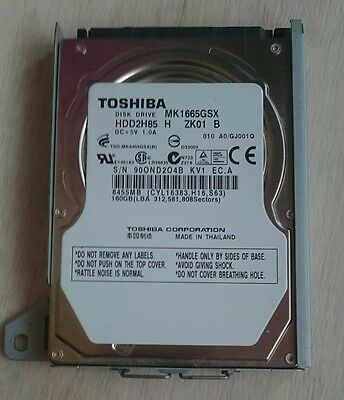 Genuine 160gb hard drive for Sony PS3 plug and play with cradle caddy MK1665GSX