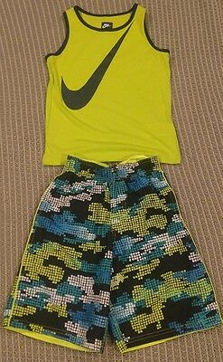 Nike swimming trunks and tank boys 7 small NWT
