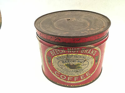 Vintage Beech-Nut Coffee 1 Pound Slip Lid Tin Can