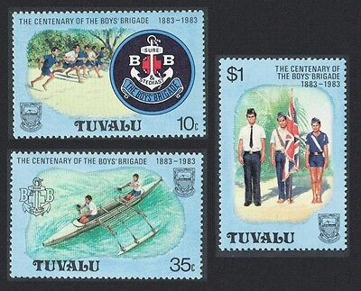Tuvalu 75th Anniversary of Boy Scout Movement 3v SG#192//95