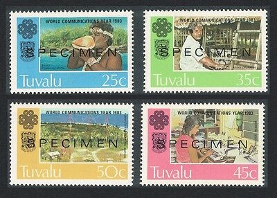 Tuvalu World Communications Year 4v Specimen SG#230/33
