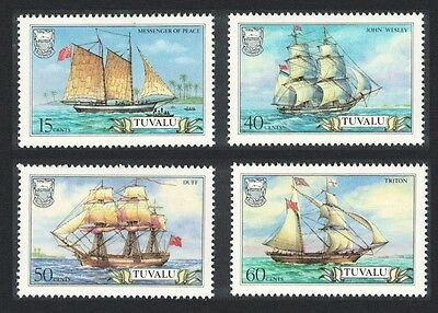 Tuvalu Ships 3rd series Missionary Vessels 4v SG#377/80