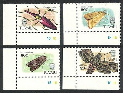 Tuvalu Insects 4v Corners SG#601/04