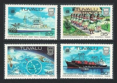 Tuvalu Ships Dance Satellite View Commonwealth Day 4v SG#213/16