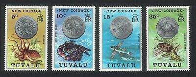 Tuvalu Octopus Crab Flying fish Turtle New Coinage 4v SG#26/29 SC#19-22