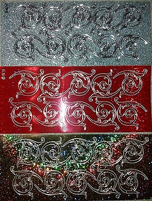 3 Sheets of DIAMOND Sparkle Peel Off  Stickers Card Making Craft Scrapbook