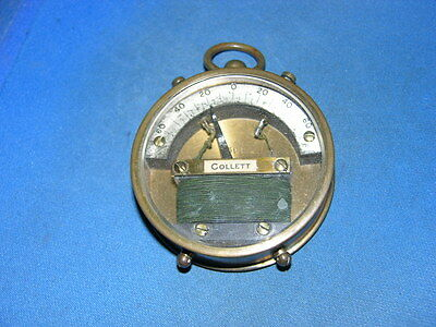 "Vintage Brass Electric Meter made by Cullett #398 60-0-60, 2 1/4"" diameter"