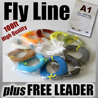 FLY FISHING - WF4F 4wt / 100ft FLY LINE ready for rod & reel weight Forward