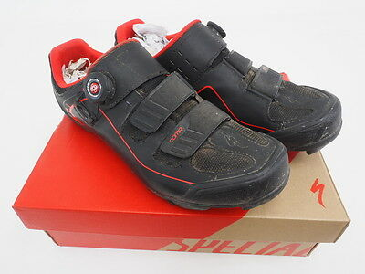 Specialized Body Geometry Men's Comp Mountain Bike Shoes -Black/Red- (US: 9.65)