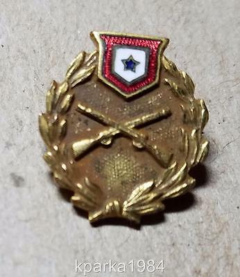 WW1 ERA US BLUE STAR SON in SERVICE BANNER US ARMY INFANTRY PIN