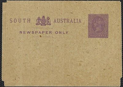 South Aust 1884-5 Halfpenny Violet Wrapper Unused