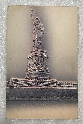Statue Of Liberty NY and The Tower Dreamland, Coney Island Ill Post Card Co