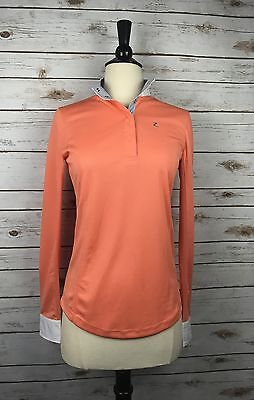 Horze Blaire Long Sleeve Functional Show Shirt in Coral - Women's 8