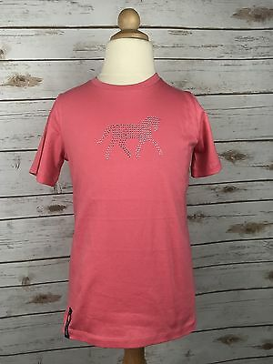 Horze Jr. Jalie Tee in Pink - Children's 9-10 yr.