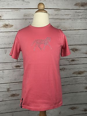 Horze Jr. Jalie Tee in Pink - Children's 11-12 yr.