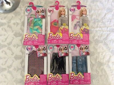 Barbie Clothes By Mattel BNIB X 6 Packets
