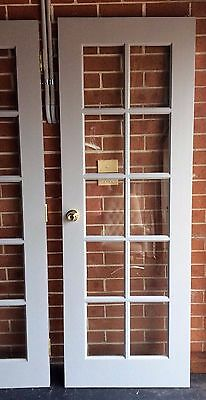 10 Safety Glass Panels Solid Timber French Door Hardwood Painted Cut-out Hinged