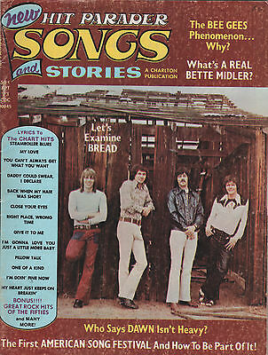Hit Parader Songs Stories Magazine September 1973 Bread Chuck Berry Bee Gees Lee