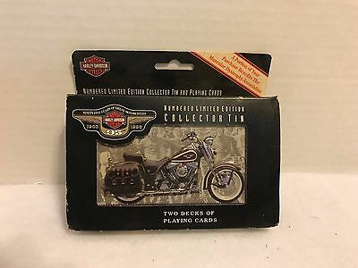Vintage '98 Harley-Davidson 95th Anniversary Limited Edition Tin & Playing Cards