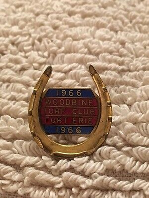 1966 Woodbine Fort Erie Turf Club Pin #33 On The Back - Very Rare Gem