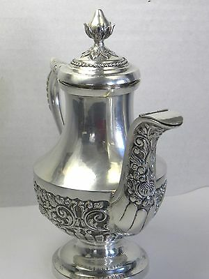 Antique 800  Silver Teapot Yogya Asia Repousse DeLux Collectible Chinese