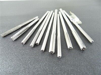 """Lot Of 11 Hss Chucking Reamers .2377"""" To .3594"""" Yankee"""