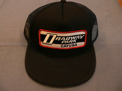 Embroidered patch ball cap hat baseball CAYUGA DRAGWAY ONT Canada racing raceway