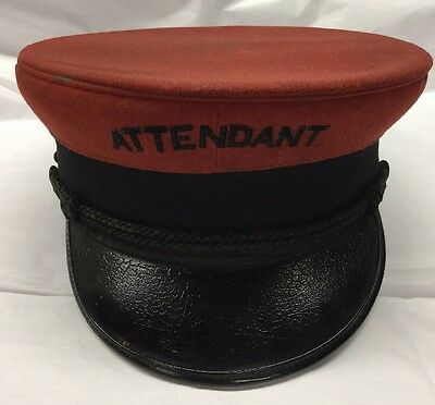 Vintage Wentworth Head Master Attendant Hat With # 671 Metal Tags On Sides