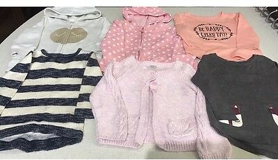 girls size 1 & 2 clothes  jumpers lons sleeve cardigan tops