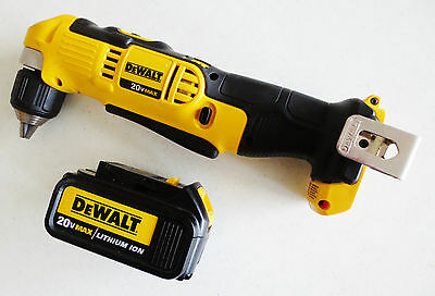 """DEWALT DCD740 20-Volt MAX Li-Ion 3/8"""" Right Angle Drill with Lithium Ion Battery"""