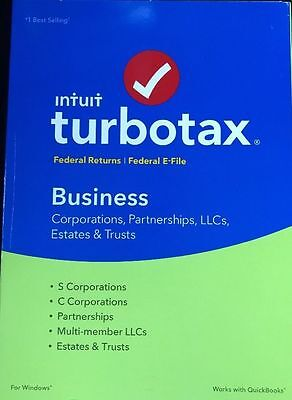 TurboTax Intuit Tax Year 2016 Business CORPORATIONS Partnerships LLCs