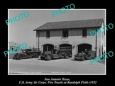 Old Large Historic Photo Of San Antonio Us Army Randolph Field Fire Station 1910
