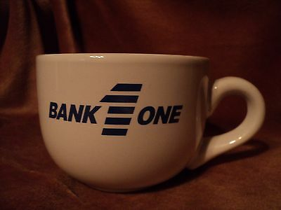 Collectible Bank One White/Blue Soup Mug