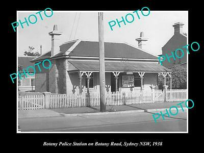 OLD LARGE HISTORIC PHOTO OF THE BOTANY POLICE STATION, SYDNEY NSW c1938