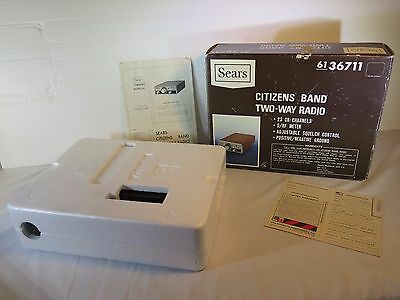 Vintage 23 Channel Citizens Band Sears Roadtalker Two Way CB Radio  +FREE GIFT+