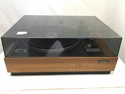 Rotel Vintage Turntable Model RP-1100Q Original Dust Cover Working Record Player