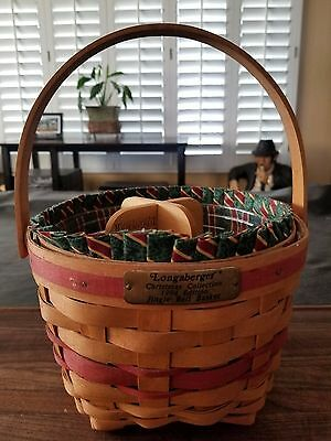 Longaberger christmas collection 1994 edition Jingle Bell Basket