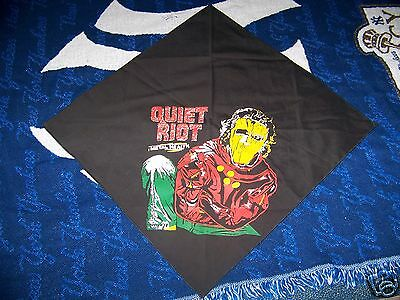 Vintage 80s QUIET RIOT Wall Hanging Bandanna Scarf Flag Tapestry METAL HEALTH