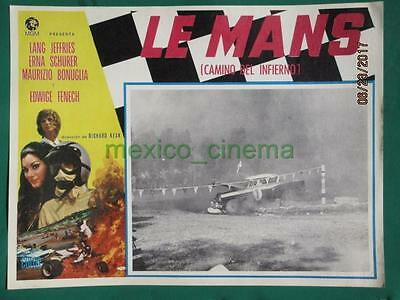 Le Mans Shortcut To Hell Racing Edwige Fenech Grand Prix Mexican Lobby Card 6