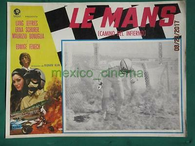 Le Mans Shortcut To Hell Racing Edwige Fenech Grand Prix Mexican Lobby Card 4