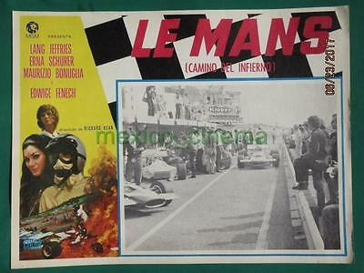 Le Mans Shortcut To Hell Racing Edwige Fenech Grand Prix Mexican Lobby Card 3