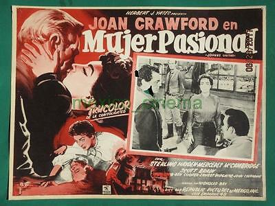 Joan Crawford Johnny Guitar Sterling Hayden Western Spanish Mexican Lobby Card