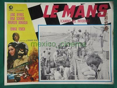 Le Mans Shortcut To Hell Racing Edwige Fenech Grand Prix Mexican Lobby Card 8