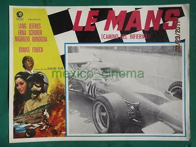 Le Mans Shortcut To Hell Racing Edwige Fenech Grand Prix Mexican Lobby Card 5